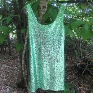 Forever 21 Dresses - Green Sequin short dress
